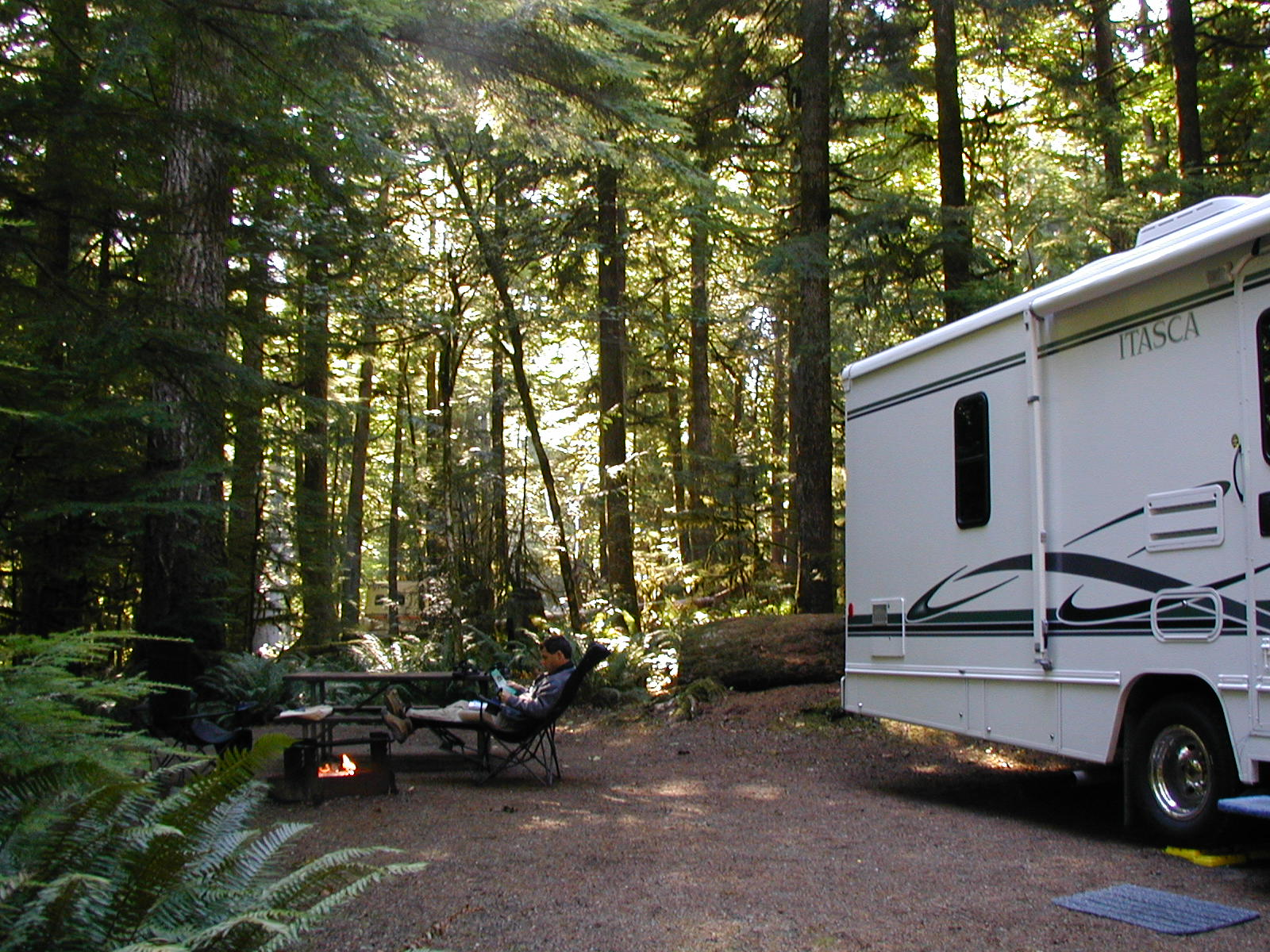 Our Site in Fairholm Campground