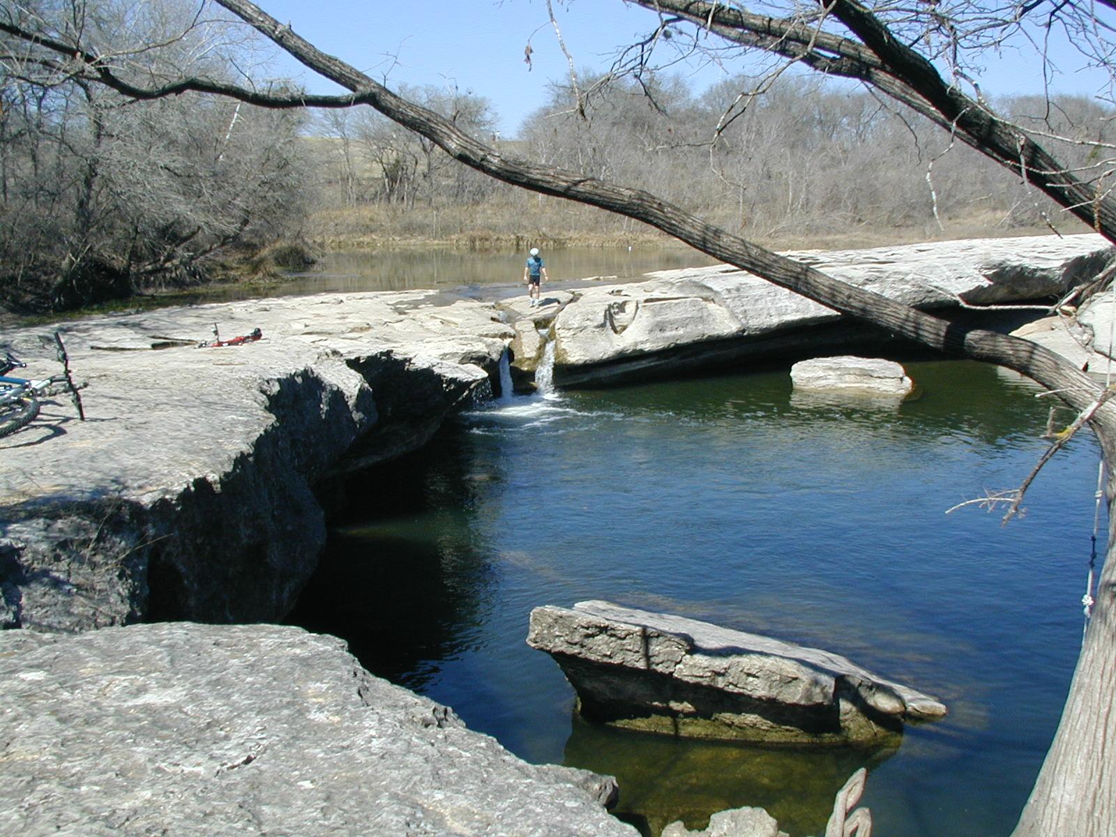 Biking over the Falls