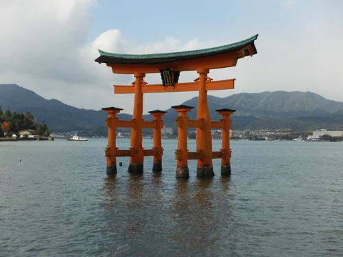 Miyajima: famous for it's Floating Gate.