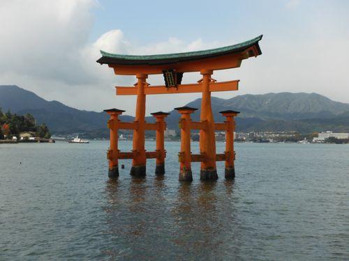 Miyajima: famous for it's Floating Gate.