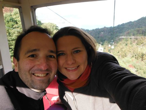 Ropeway on the way up to Mt Misen