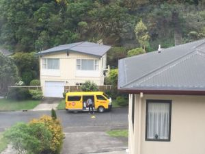 DHL van at the bottom of our driveway.