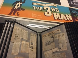 Newspaper clippings in the third man museum.