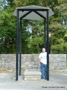 Bill standing at Princess Otahki's monument