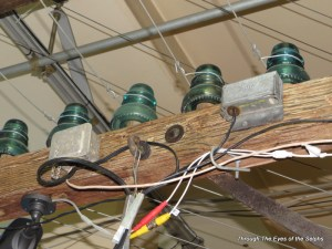 This is how phone lines were strung on individual insulators