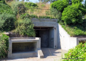 One of three entrances to a bunker used to supply the two guns at Fort Ebey