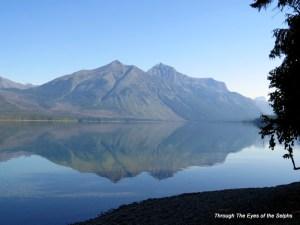 Mountain reflection on Lake McDonald