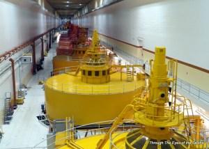 Generator room in the Dalles Dam