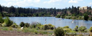 Floating in the city of Bend OR on the Deschutes River