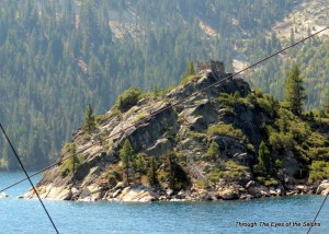 Fannette Island with Mrs. Knight's Tea House at the top