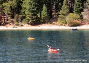 Kayakers enjoying Emerald Bay