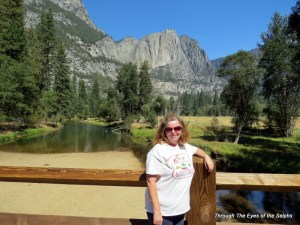 Diane in the Yosemite valley