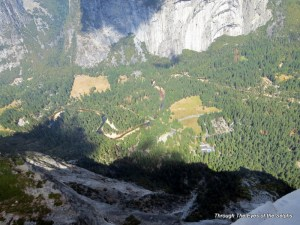The Yosemite Valley as viewed from Glacier Point
