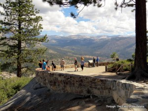 A viewpoint at Glacier Point