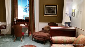 This is the Lincoln sitting room, Nixon's favorite place to work on the second floor of the White House
