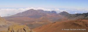 The eroded crater of Haleakala