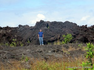 Here is the height of the 1960 lava flow next to the Cape Kumukahi lighthouse