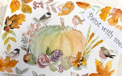 Chickadees and Pumpkins – in the mood for fall