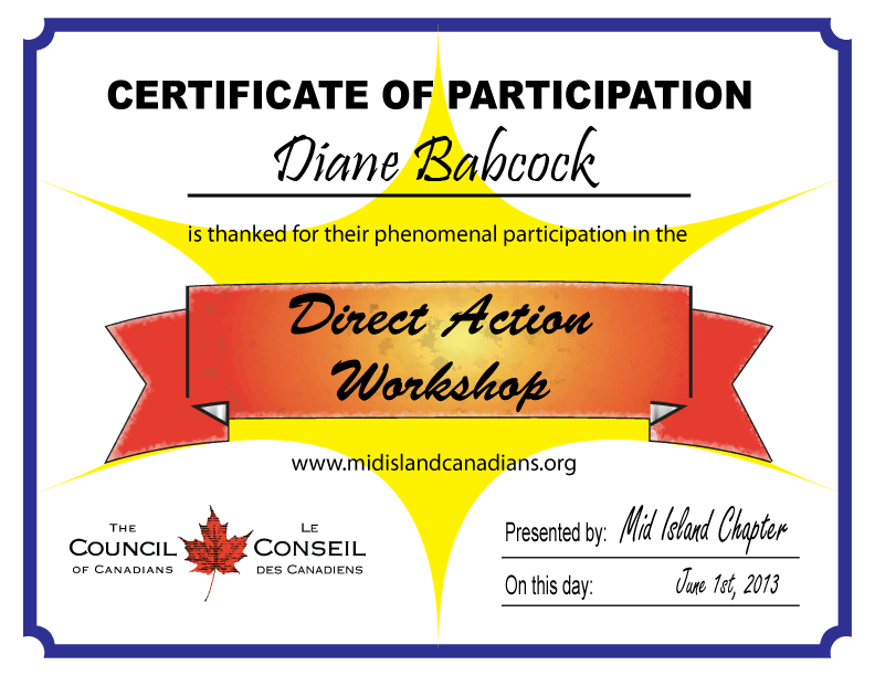 direct action workshop