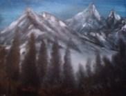 Winter Mountain Trees
