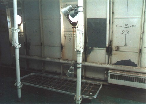 The seaman's quarters showed me where bunk-mates caught their zees on the seas...surrounded by lockers filled with gear and keepsakes from home.The stories told here as only comrades can do may not be remembered the same way today.