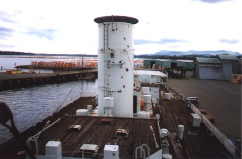 Beyond that was the smoke stack…it almost looked close enough to touch through the camera lens, but it wasn't…it was just big.Then I saw more of her expansive deck and realized there was much to experience in this fabulous playground.I was captivated by my own imagination.
