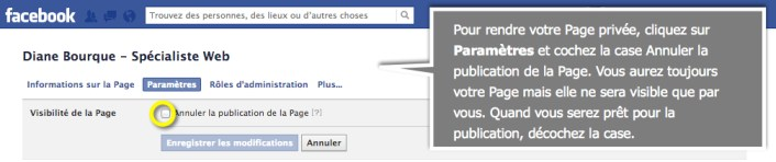 facebook-page-privee-publication
