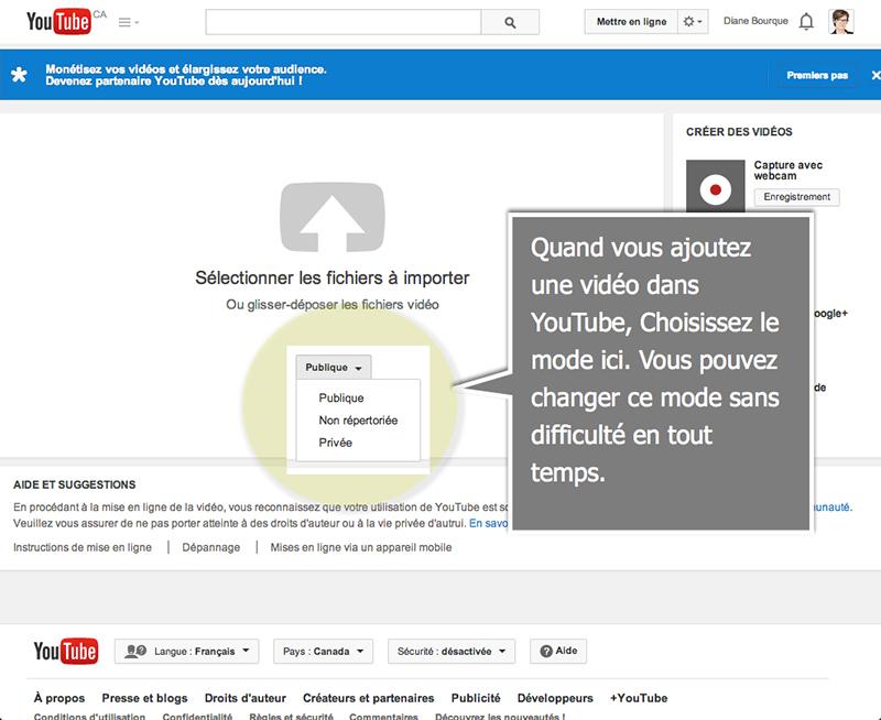 Comment ajouter une vid o non r pertori e dans youtube ou for Dans youtube