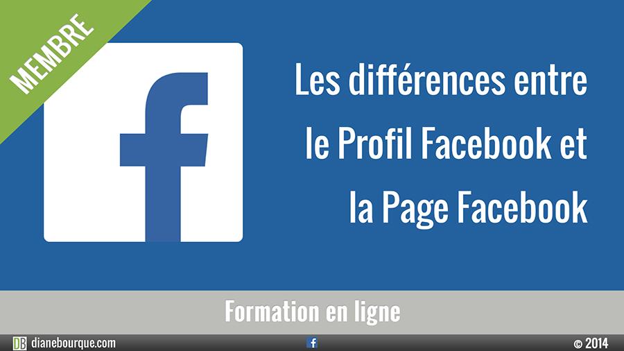Les différences entre le Profil Facebook et la Page Facebook