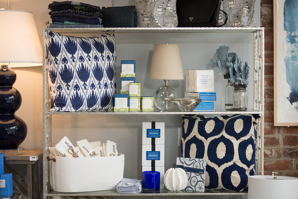 blue store display