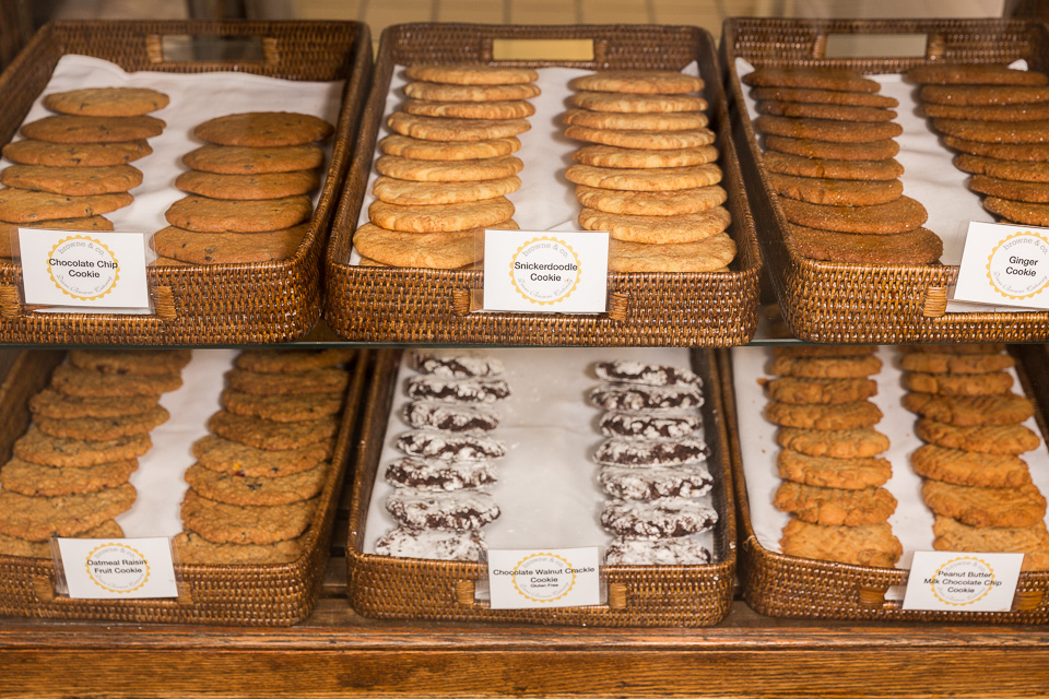 assorted cookie display case