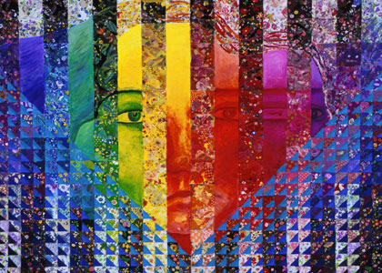 Mixed Media: Conundrum I - Rainbow Woman - Art Card, ACEO Edition