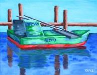 """Apalachicola Oyster Boat, Diane Dyal, Acrylic, 11""""x14"""", 2012"""