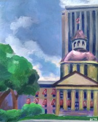 "Capitol Building, Diane Dyal, Acrylic, 16""x20"", 2016"