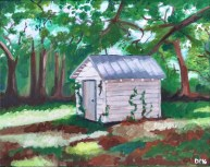 "Crawfordville Shack Number Two, Diane Dyal, Acrylic, 16""x20"", 2016"