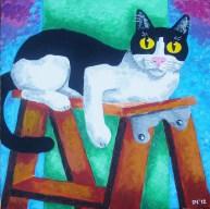"""Gateway on a Ladder, Diane Dyal, Acrylic, 20""""x20"""", 2012"""