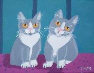"""Kitten Twins, Diane Dyal, Acrylic, 11""""x14"""", 2009"""