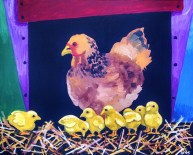 "Prodigal Chick, Diane Dyal, Acrylic, 24""x30"", 2015"