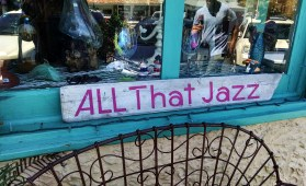 All That Jazz sign in window