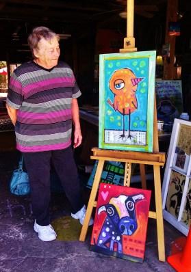 Carol with Jenny Odom art in Apalach