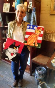 Margene with my paintings