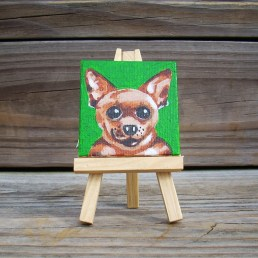 """Mini Chihuahua by Diane Dyal copyrighted 2-1/2"""" square"""