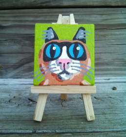 """Mini Grumpy Cat by Diane Dyal copyrighted 2-1/2"""" square"""