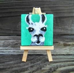 "Mini Llama by Diane Dyal copyrighted 2-1/2"" square"
