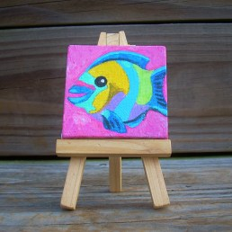"""Mini Parrotfish by Diane Dyal copyrighted 2-1/2"""" square"""