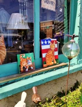 Stripe and Lime in Window Art Walk