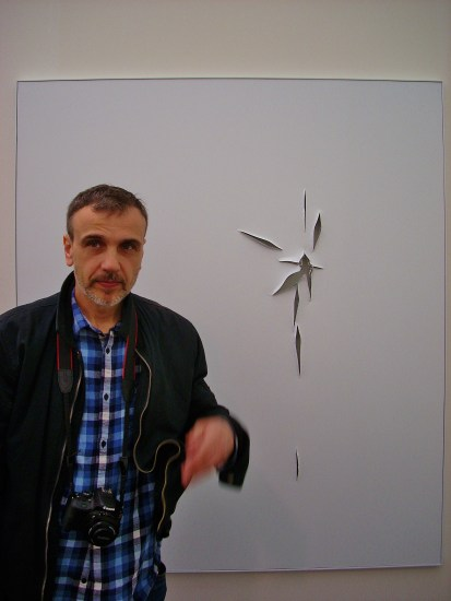 Chris with Slit Painting