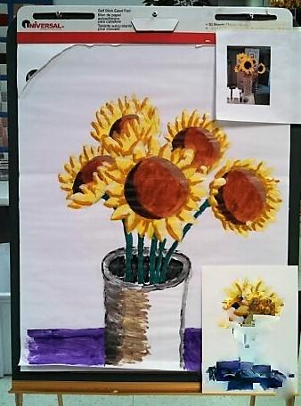 Sunflowers Diane Senior Center 2014