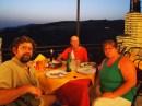 Enjoying a 7 course fish feast