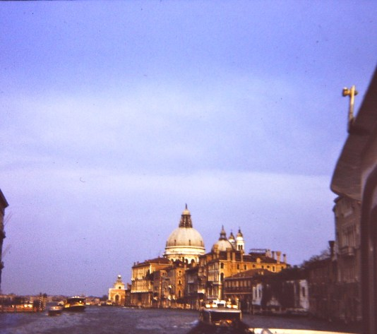 Sunlight shines down on the Duomo di San Marco just before sunset begins.